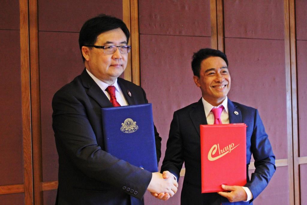 พิธีลงนามบันทึกข้อตกลงความร่วมมือทางวิชาการระหว่าง มหาวิทยาลัยสยาม กับ บริษัท ชโย กรุ๊ป จำกัด (มหาชน)